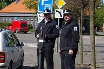Strážníci Městské policie Dobříš Milan Krejčí a Miroslav Rambousek
