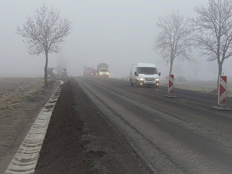 Rekonstrukce silnice I/4 v rámci etap 3+4, na něž došlo v říjnu a listopadu 2020.