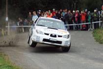 Fuchs Oil Rally Příbram 2008. RZ Tochovice - Nestrašovice, zatáčka Klozarova pila Stará voda.
