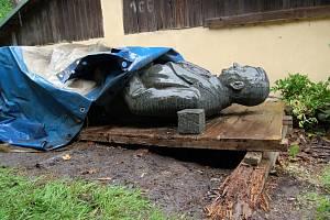 Příbramská socha Klementa Gottwalda.