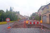 Rekonstrukce Mariánské ulice v Příbrami.
