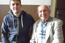 SE SVÝM  VNUKEM  Michalem Kupsou si Jaroslav Mucha velmi dobře rozumí.