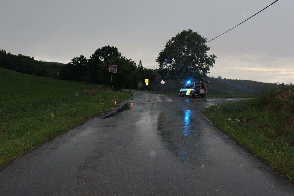 Nehoda u Sedlčan.