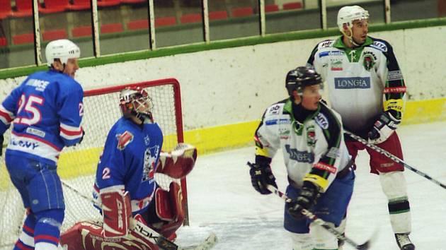1. kolo play off KPM: HC Příbram - Slaný (3:2).