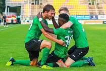Ze zápasu 3. kola FORTUNA:LIGY 2020/2021 1. FK Příbram - SFC Opava 1:1.