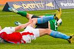 Ze zápasu 27. kola FORTUNA:LIGY Příbram - Slavia Praha 0:1.