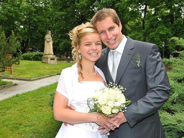 Adéla Němečková a Petr Příman si řekli svoje ano v příbramském Zámečku. Svatební obřad se konal v pátek 18. června v 10.30 hodin.