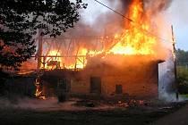 Požár v Kleticích.