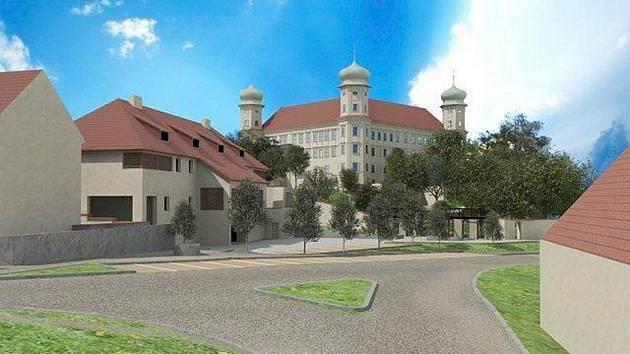 Studie úpravy předzámčí v Mníšku pod Brdy.
