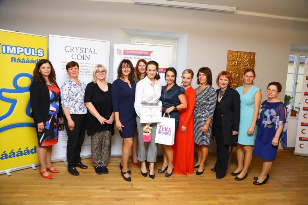Slavnostní vyhlášení výsledků ocenění Žena regionu 2019 pro Středočeský kraj.