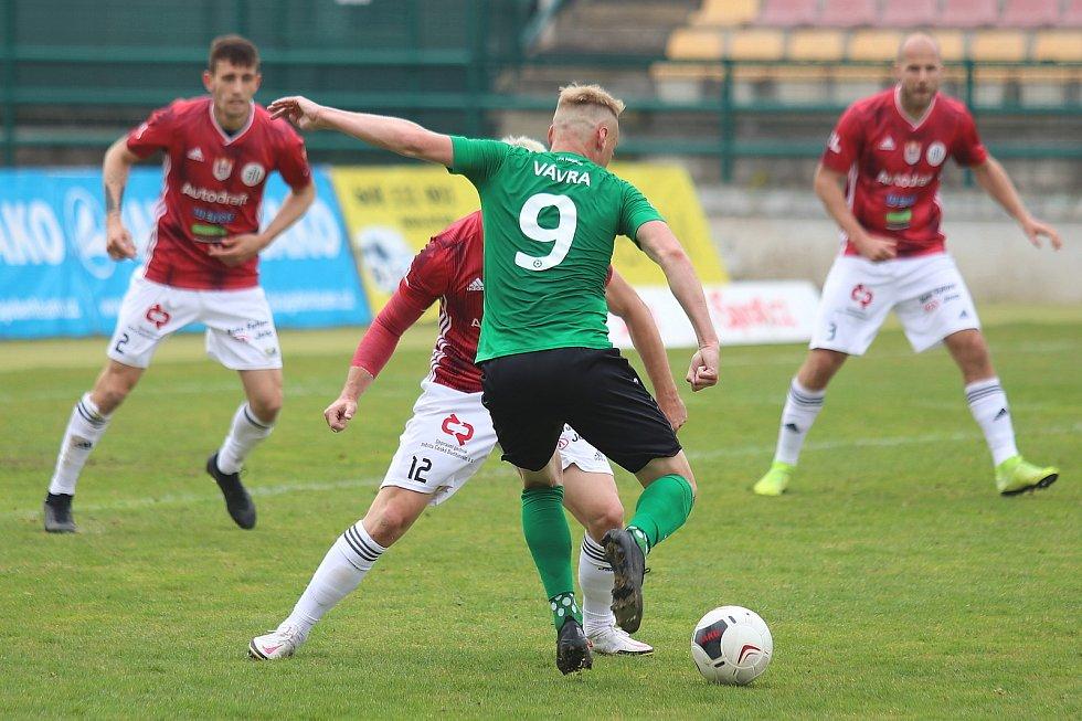 Ze zápasu FORTUNA:LIGY Příbram - České Budějovice.