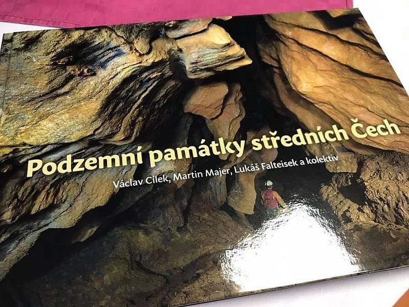 Ze křtu publikace Podzemní památky středních Čech v dole Anna v Příbrami.