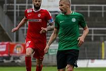 Úvodní utkání baráže o FORTUNA:LIGU Zbrojovka Brno - 1. FK Příbram 3:3.
