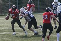 Z utkání ČLAF, divize A: Příbram Bobcats - Ostrava Steelers (0:19).