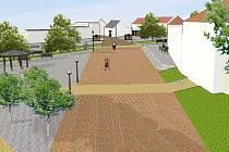Vizualizace mníšeckého náměstí F.X. Svobody po rekonstrukci.