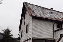 Požár rodinného domu na Příbramsku.