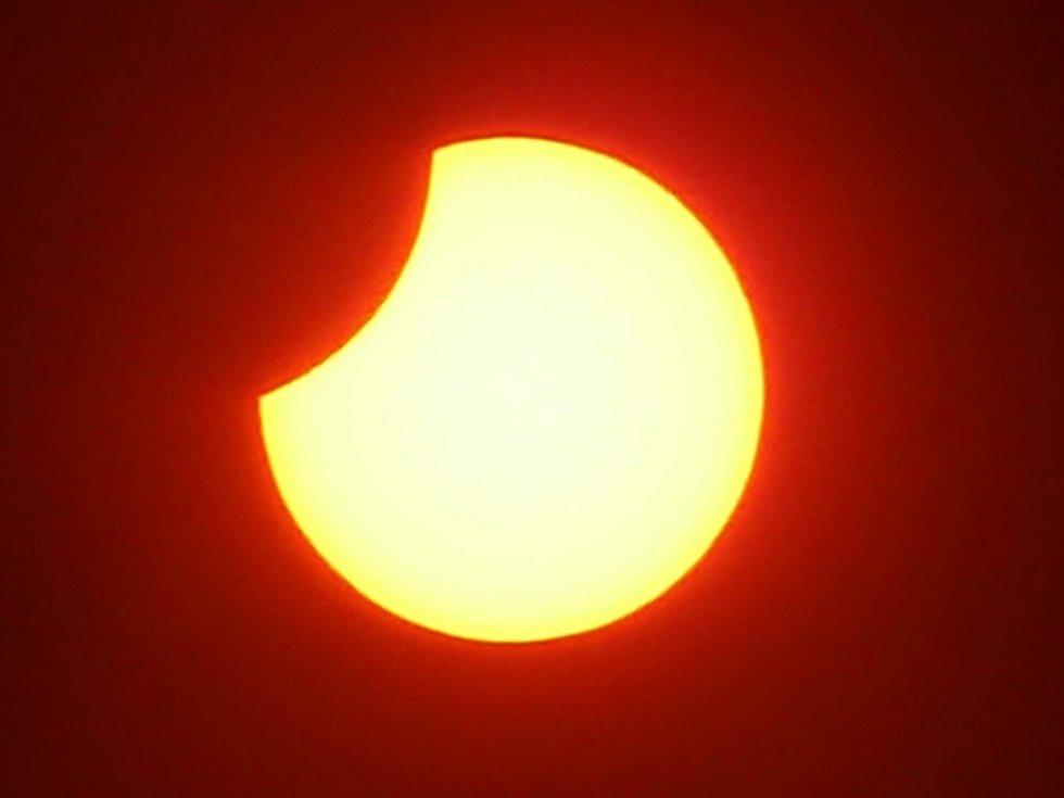 Zatmění slunce v 11.55 hodin