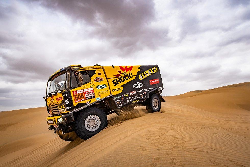 Martin Macík a Jan Brabec během osmé etapy Dakaru 2019.