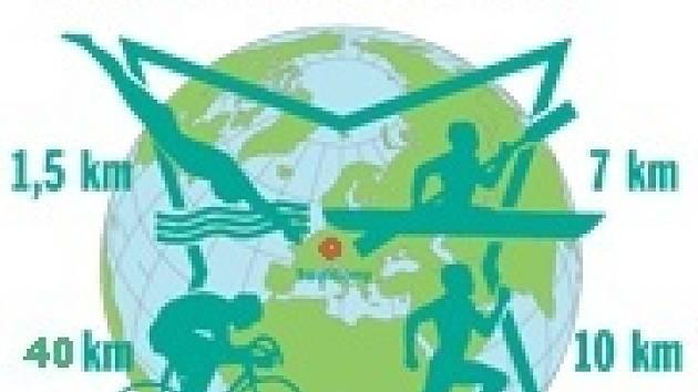 Logo sedlčanského kvadriatlonu.