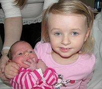 Rozálie Míková se mamince Petře  a tatínkovi Radkovi z Osečan narodila ve čtvrtek 17. března, vážila 2, 96 kg a měřila 49 cm.  Vyrůstat bude s dvouačtvrtletou sestřičkou Valentýnou.
