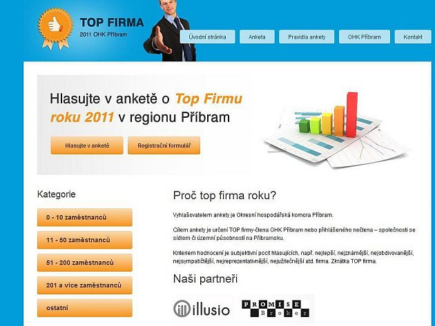Anketa ja na webu www.topfirmapribramsko.cz.