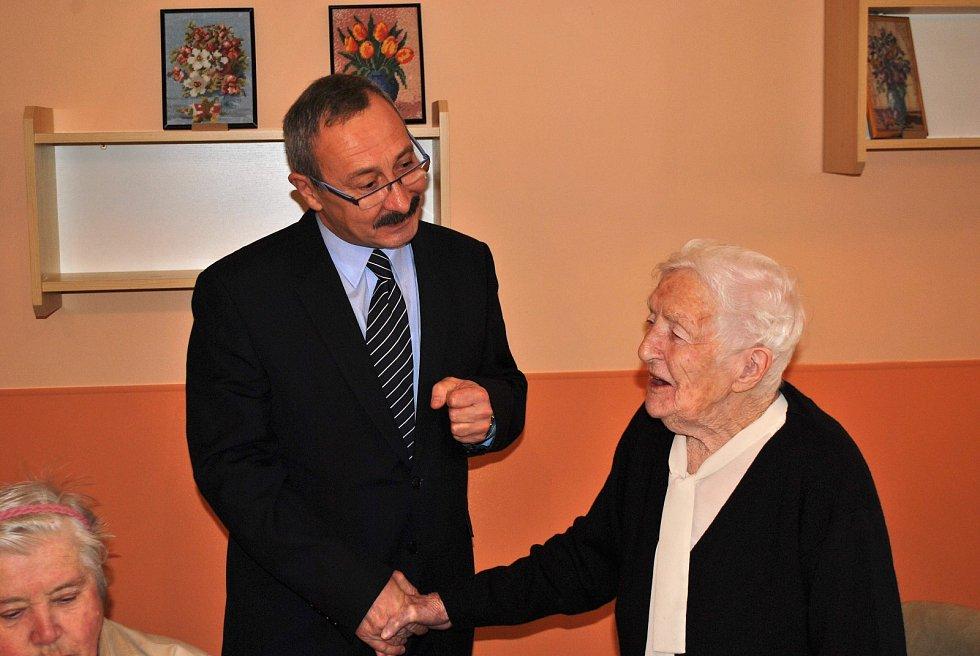 Příbramačka Pavlína Jelenová oslavila 100 let.