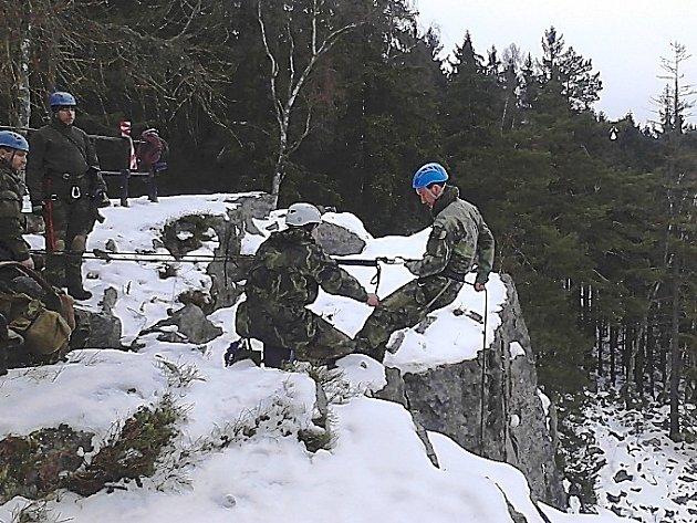 Zimní přežití v Brdech.