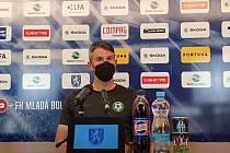 Tomáš Pilík na tiskové konferenci po zápase v Mladé Boleslavi.