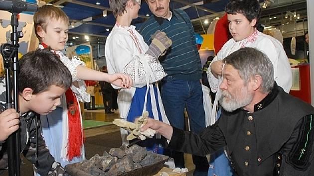 Příbramský výstavní stánek na veletrhu cestovního ruchu Regiontour 2008 v Brně.