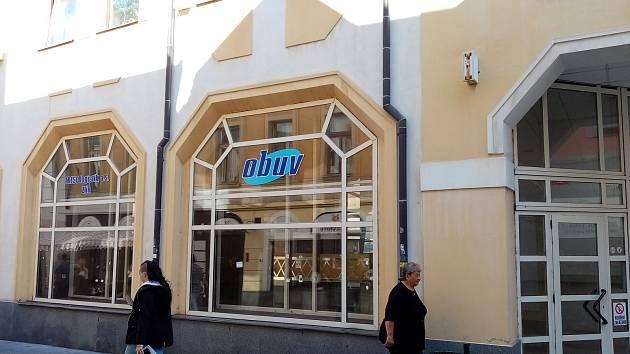 Bývalá prodejna obuvi v Pražské ulici v Příbrami.