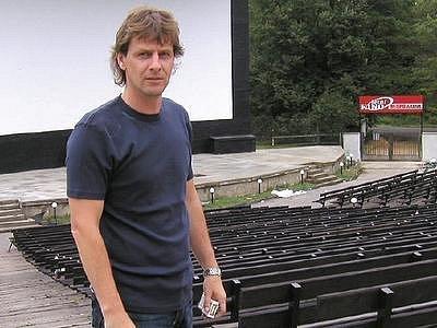 Provozovatel letního kina v Příbrami Martin Severa
