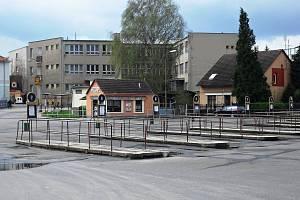 Autobusové nádraží v Sedlčanech.