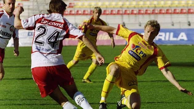Utkání se Zlínem nakonec dopadlo pro fotbalisty a fanoušky Marily ještě dobře, když Rudolf Otepka v poslední minutě proměnil penaltu a vyrovnal na 1:1.