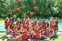 Loučení studentů s letní jazykovou školou v Hrachově.