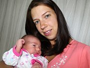ELIŠKA RYCHTECKÁ se narodila v úterý 12. září o váze 3,87 kg a míře 53 cm Lucii a Jaroslavovi ze Svinařů.