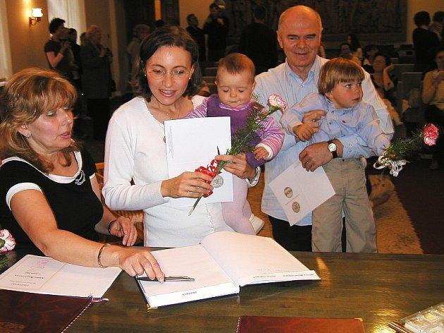 Vítání občánků v obřadní síni Zámečku - Ernestina v Příbrami