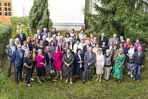Z oslavy stého výročí založení Obchodní akademie a Vyšší odborné školy v Příbrami.