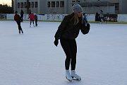 Na ledové ploše s úsměvy kroužili malí i velcí.