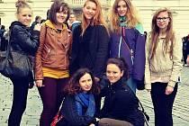 Studenti z Březnice na výpravě v Praze.