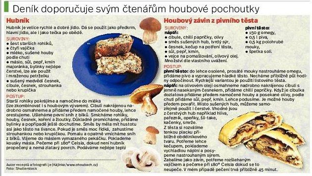 Houbové recepty.