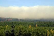 Přírodní rezervace Getsemanka v mlze.