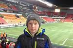 Splněný sen. Desetiletý Honzík Kvasnička zažil atmosféru zápasu mezi Českou republikou a Brazílií.