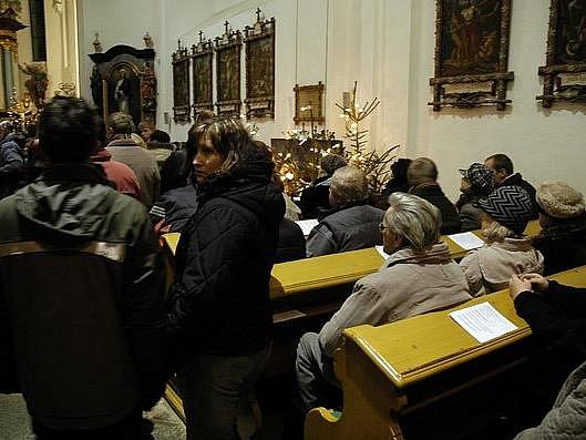 Tradiční půlnoční mše v rožmitálském kostele