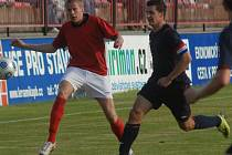 I. A třída: Sp. Příbram - Doksy (5:1). Michal Huleš (vlevo) vstřelil tři góly.