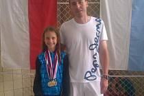 Kateřina Laňková s trenérem Janem Maškem.