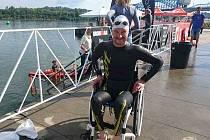Jan Tománek při přípravě na MS Ironman 70.3 v americkém městě Chattanooga.