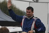 Cíl 36. ročníku PURUM Rally Příbram. Jan Jelínek.