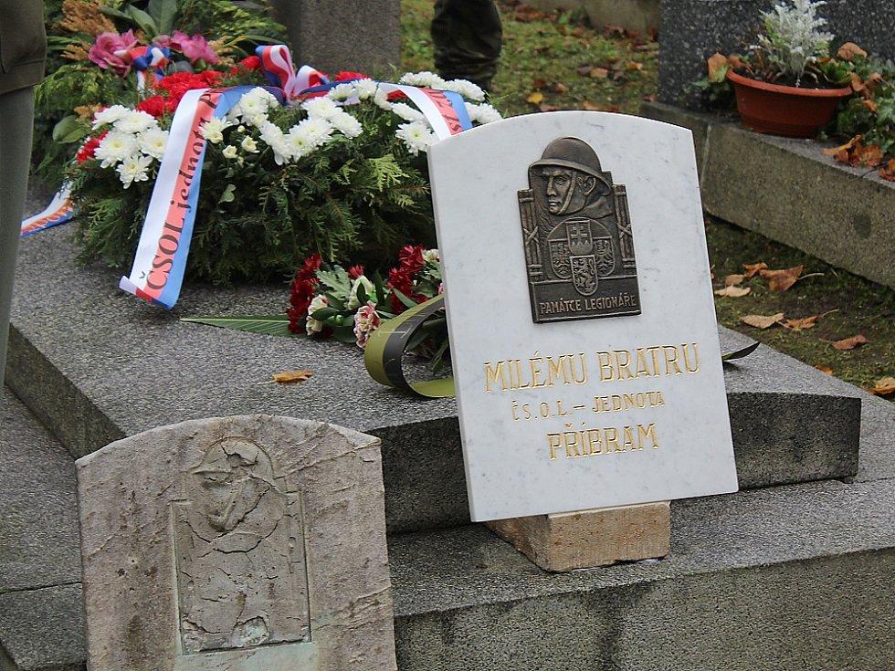 Opravený hrob legionáře Josefa Kubelky.