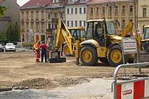 Rekonstrukce náměstí TGM začala.