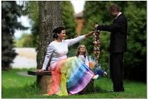 Snímek ze svatby manželů Procházkových.